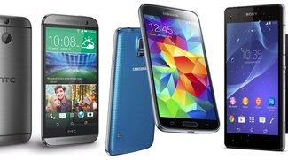HTC One (M8) vs. Samsung Galaxy S5 vs. Sony Xperia Z2: Vergleich der Spezifikationen