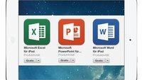 Microsoft Office für iPad und iPhone ohne Abo nutzbar