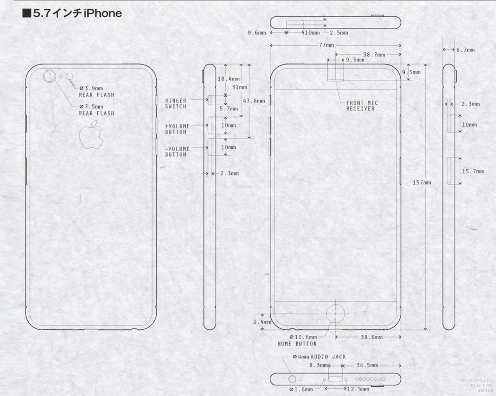 iPhone 6: So könnte es aussehen – Blaupausen als Rendering – GIGA