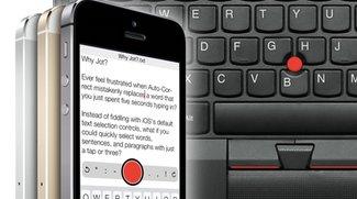 iPhone-Tastatur mit TrackPoint a la ThinkPad (App-Tipp)