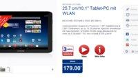 ALDI-Tablet: Medion Lifetab E10320 mit 10 Zoll-Display, Quad Core-CPU ab 27. März für 179 Euro erhältlich