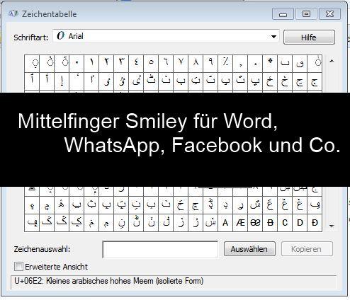 Tastaturkürzel smiley Tastenkombination