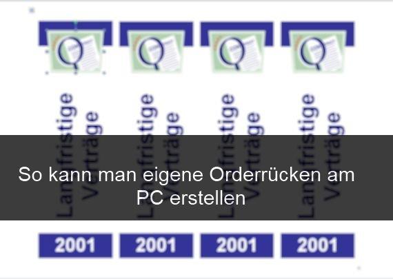 Ordnerrücken drucken: Vorlagen für Word und Co.