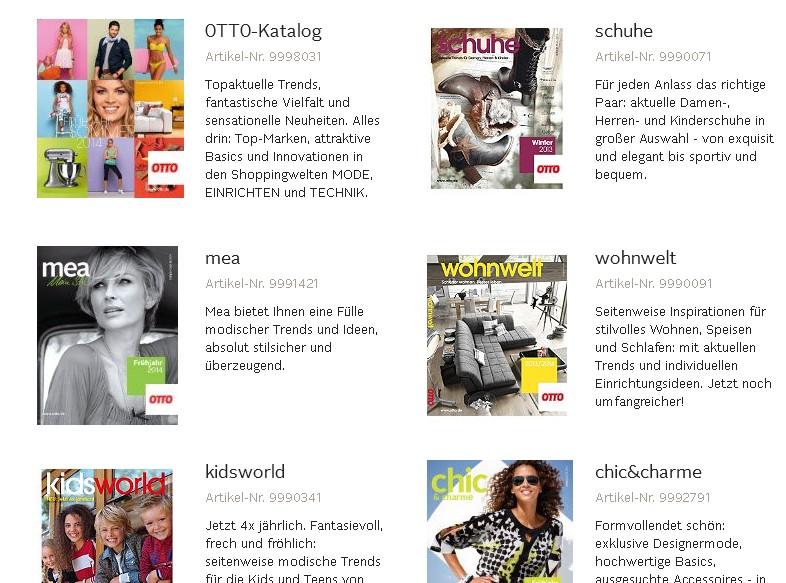 Den Otto Katalog Bestellen Ich Will Papier