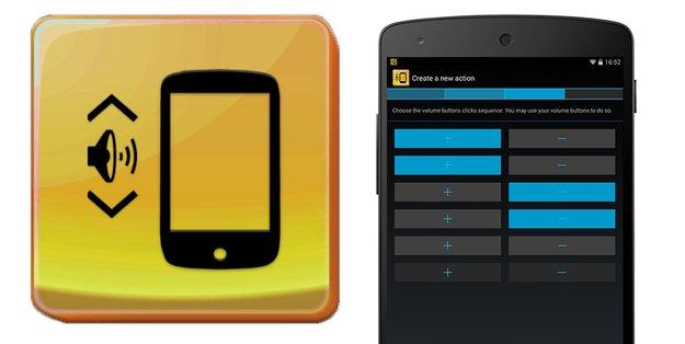 QuickClick: Konfigurierbare Aktionen über Lautstärketasten-Kombinationen
