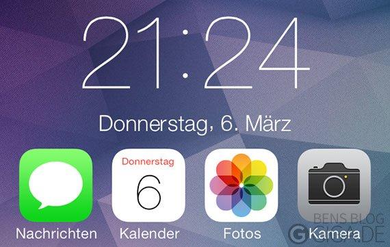 SevenClock: iOS 7 Lockscreen-Uhr auf dem Homescreen - kostenlos [Cydia]
