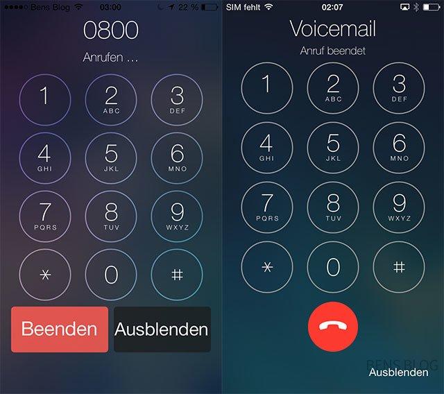 Überarbeitete Telefon-App