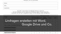 Fragebogen erstellen mit Word oder Online – Kostenlos und mit Vorlagen