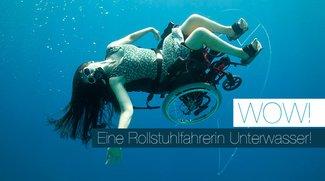 Rollstuhl Unterwasser! Erschreckend schön!