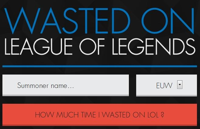 wasted on lol