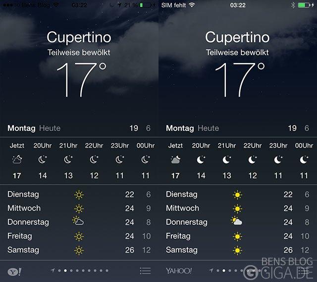 Verbesserte Wetter-App