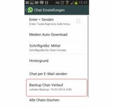 WhatsApp Verlauf sichern: Alle Gespräche archivieren