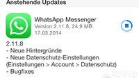 WhatsApp für iPhone: Update bringt neue Datenschutz-Einstellungen und Wallpaper