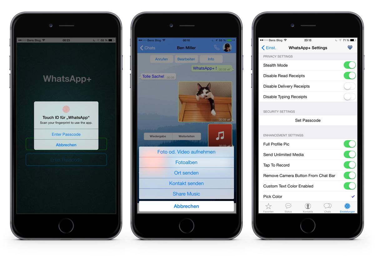 Whatsapp Plus Für Iphone Kostenloses Add On Für Mehr