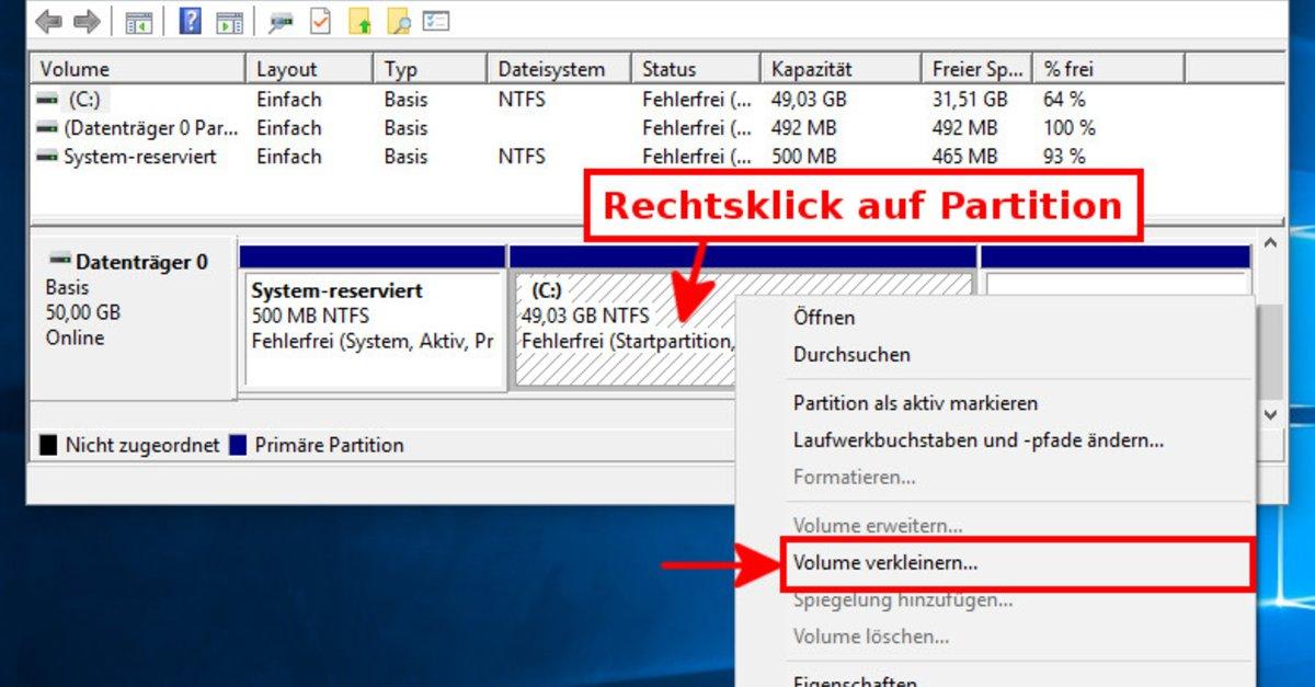 Windows 10 Festplatte Partitionieren So Geht S