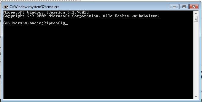 In der Windows-Eingabeaufforderung könnt ihr eure IP herausfinden.