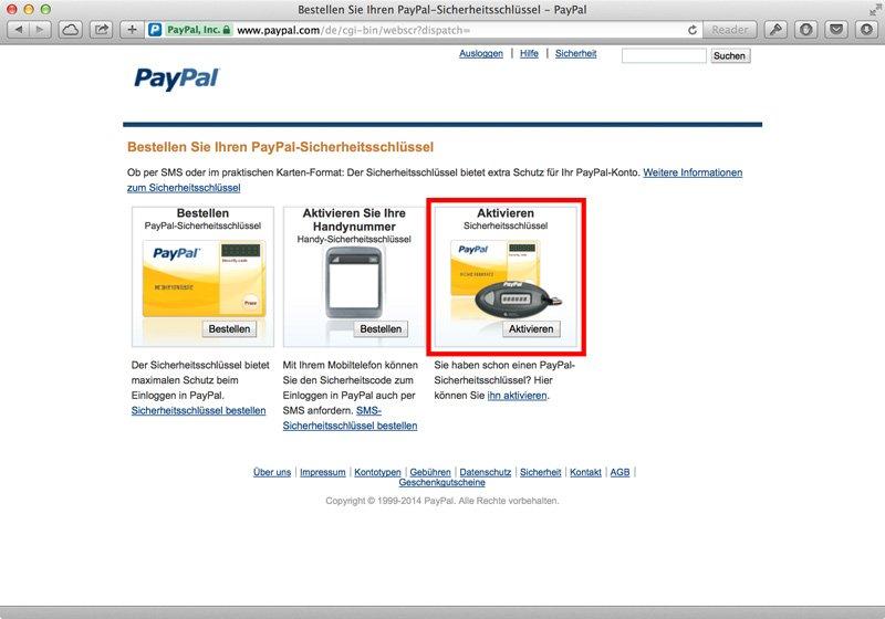 Paypal 2 Faktor Authentifizierung