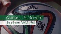 Adidas verpackt 6 GoPros in einen WM-Ball