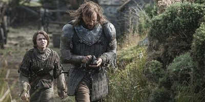 Maisie-Williams-and-Rory-McCann-in-Game-of-Thrones