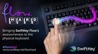 SwiftKey Flow Hard: Swipen auf der Computer-Tastatur