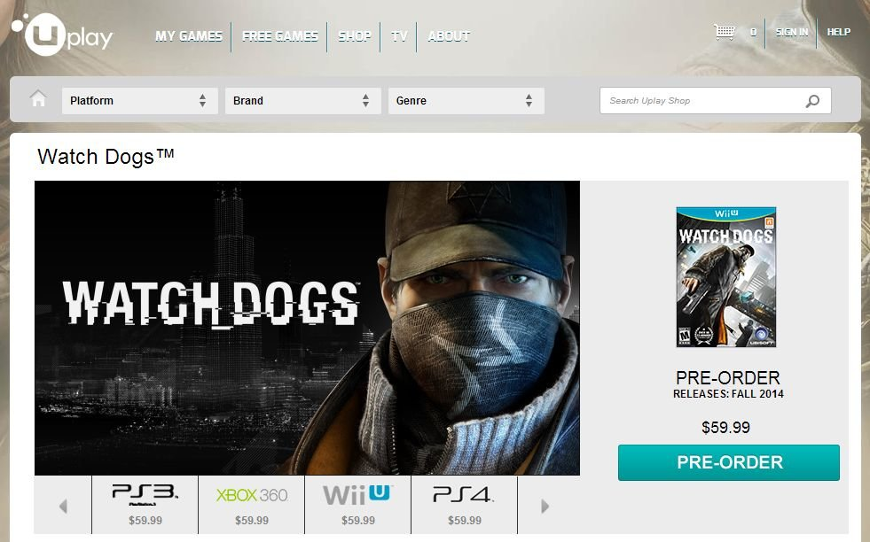 Watch Dogs Wii U herbst 2014