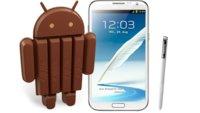 Samsung Galaxy Note 2: Update auf Android 4.4 verfügbar