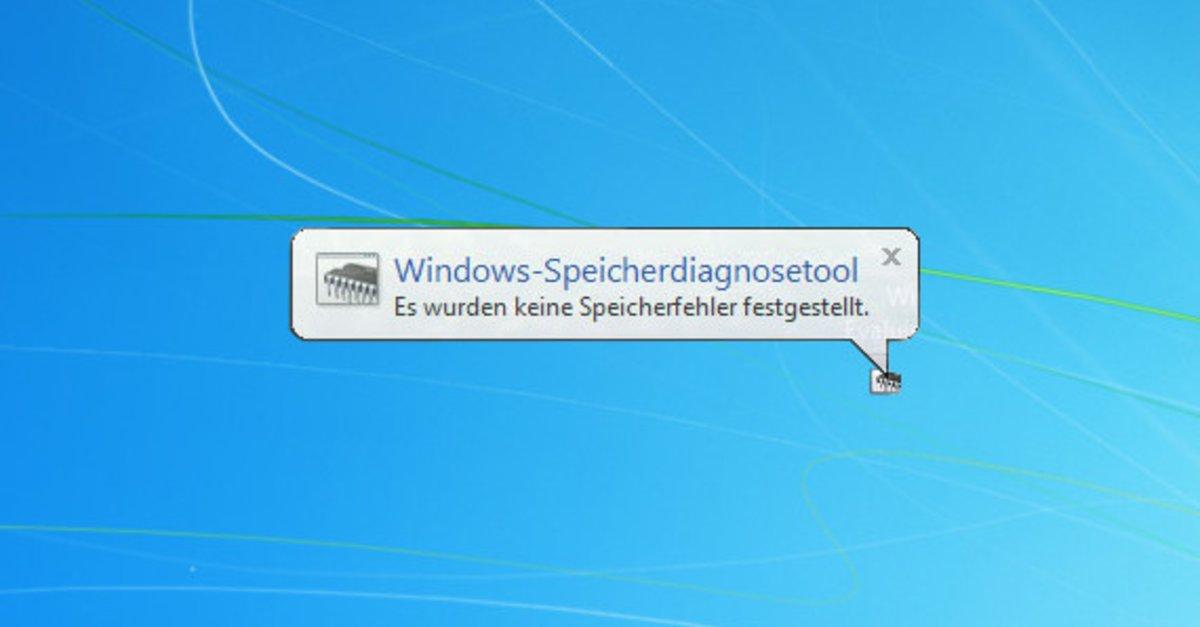 Arbeitsspeicher testen unter Windows 7 und Windows 8 -