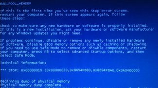 Bad Pool Header: Bluescreen-Fehlermeldung unter Windows