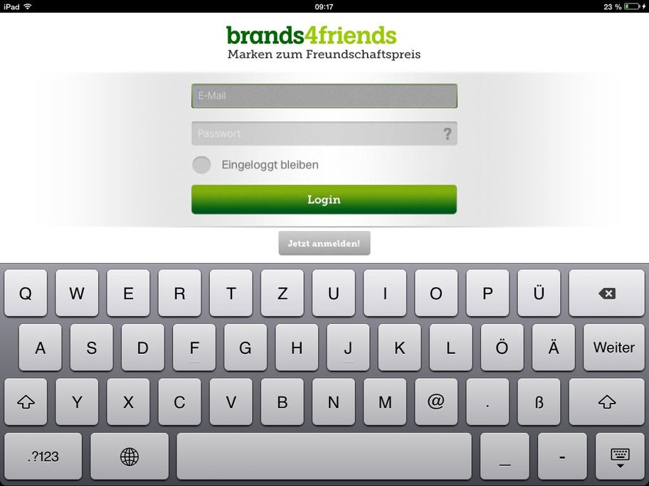 brands4friends app login