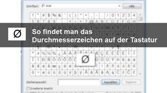 Durchschnittzeichen mit der Tastatur in Word, Excel und Co. schreiben