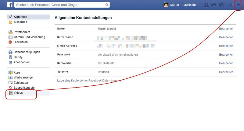 facebook-videos-einstellungen