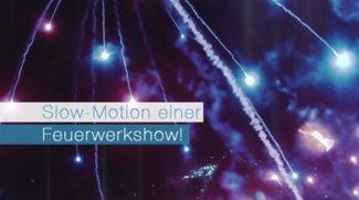 Slow-Motion einer Feuerwerkshow!