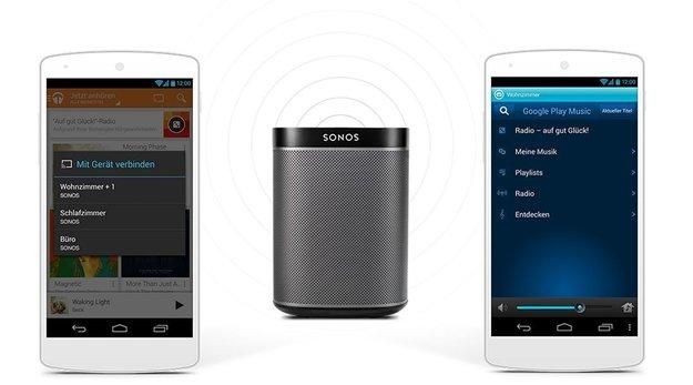 Google Play Music: App spielt Musik auch auf Sonos-Geräten