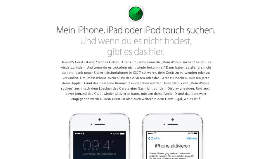 iOS 7-Fehler: Fernortung abschalten ohne Passwort - raumwerke.de
