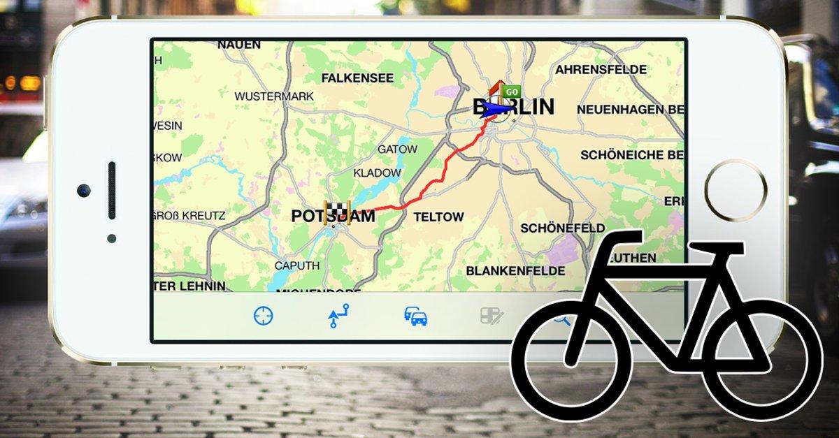 fahrrad apps f r iphone testfazit zur navigation giga. Black Bedroom Furniture Sets. Home Design Ideas