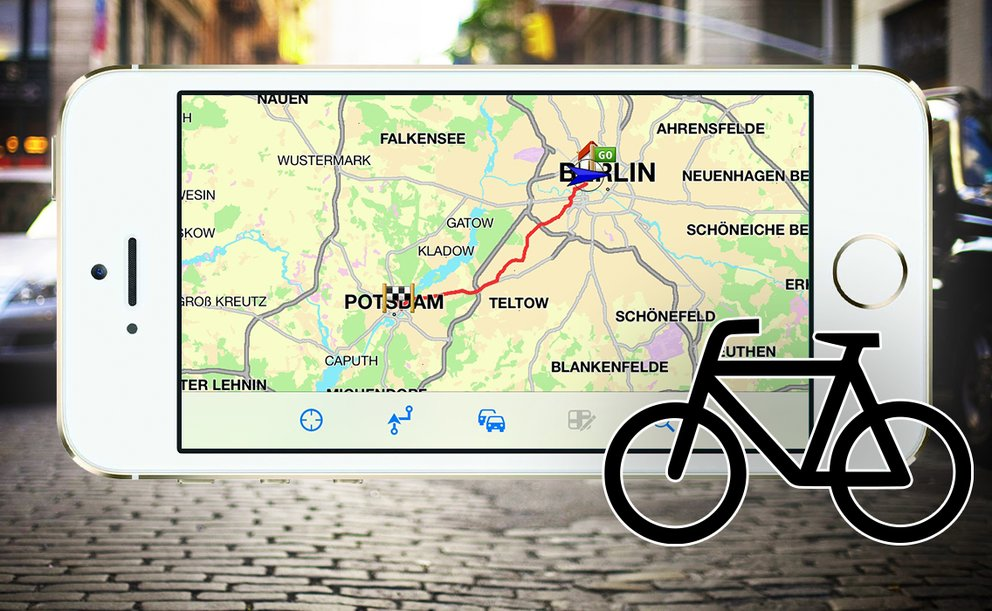 iphone fahrradnavigation