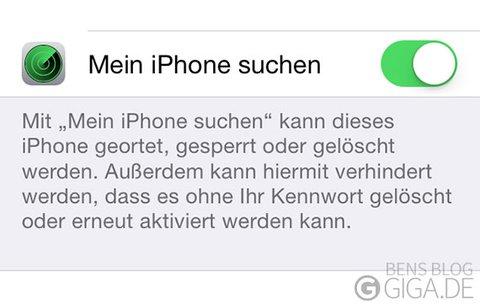 mein iphone suchen deaktivieren ohne passwort ios 12