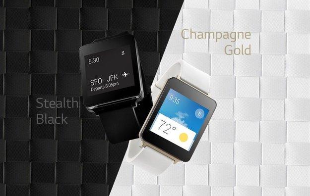 LG G Watch: Always-On-Display, wasser- und staubdicht, Schwarz und Gold