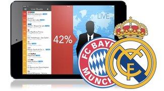 Bayern München vs. Real Madrid: Live TV App heute kostenlos für iOS, Android und Mac