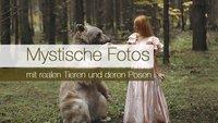 Mystische Fotos mit realen Tieren und deren Posen