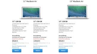 MacBook Air: Neue und günstigere Modelle