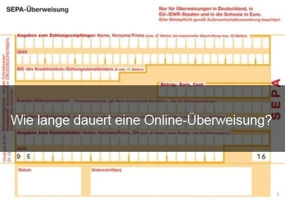 Online Banking Dauer