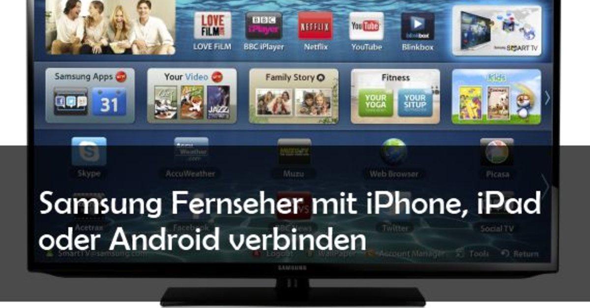 smartphone und tablet mit samsung fernseher verbinden android und ios giga. Black Bedroom Furniture Sets. Home Design Ideas