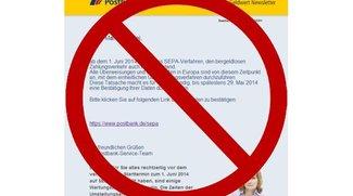 """""""Postbank führt das SEPA-Verfahren ein"""": Mail-Betrüger unterwegs"""