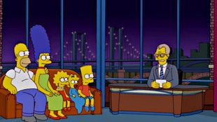 Simpsons ehren Showmaster David Letterman mit Couch-Gag