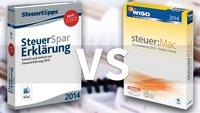 Test: WISO steuer:Mac 2014 und SteuerSparErklärung (Mac) im Vergleich