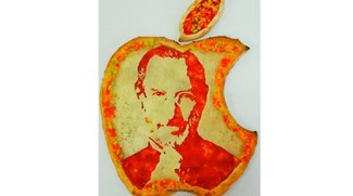 Betthupferl: Die Apple-Pizza mit Steve Jobs