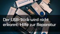 So kann man einen USB Stick reparieren und Defekte beheben