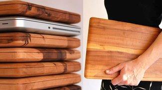 Neues Holz-MacBook ersch- nein, doch nur ein Schneidebrett