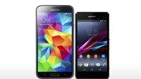 Samsung Galaxy S5 vs. Sony Xperia Z1: Direkter Vergleich